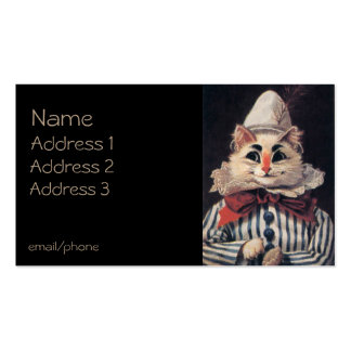 Clown Cat Double-Sided Standard Business Cards (Pack Of 100)