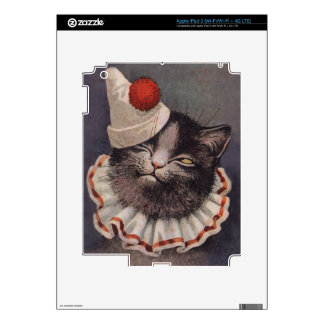 Clown Cat Decal For iPad 3