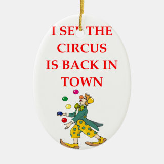 clown ceramic ornament