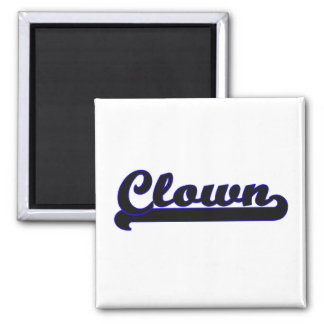 Clown Classic Job Design 2 Inch Square Magnet