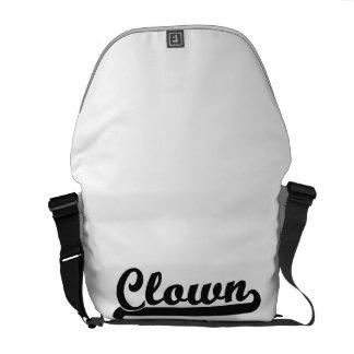 Clown Classic Job Design Messenger Bags