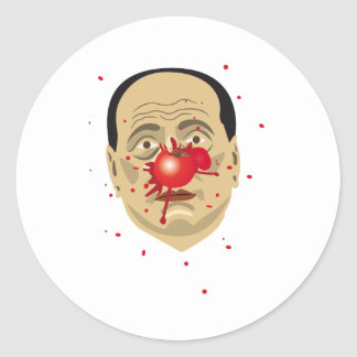 clown classic round sticker