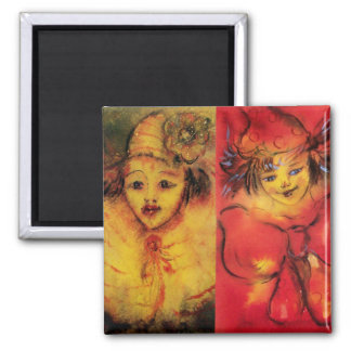 CLOWN COLLECTION Venetian Masquerade Clowns Magnet