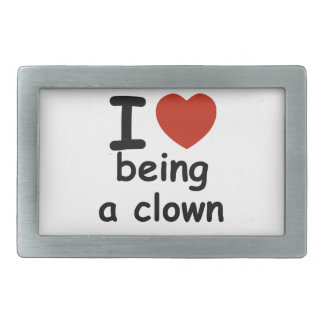 clown design rectangular belt buckle