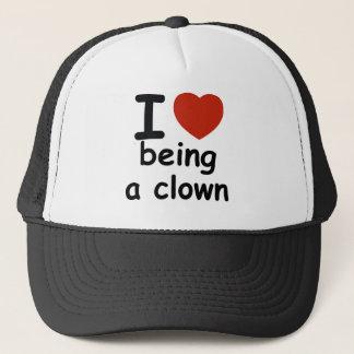 clown design trucker hat