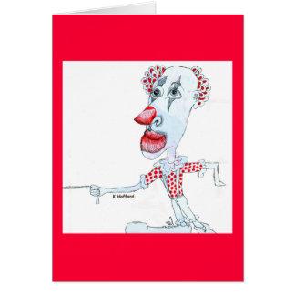 Clown Dog Card