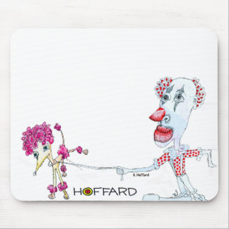 Clown Dog Mouse Pad