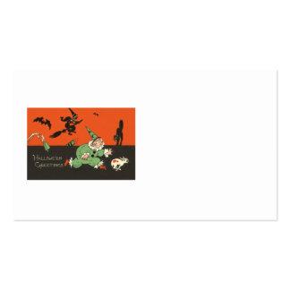Clown Dog Witch Bat Black Cat Skeleton Business Card