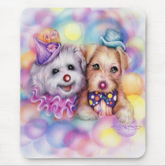 clown dogs mouse pad