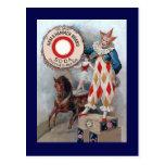Clown Doll Horse Postcard
