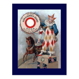 Clown Doll Horse Postcard