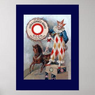 Clown Doll Horse Poster