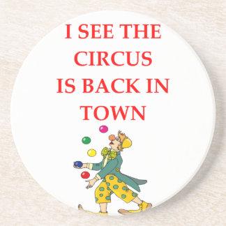 clown drink coaster