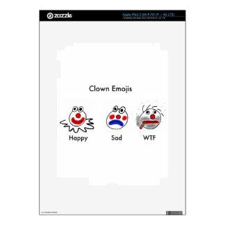Clown Emojis Skins For iPad 3