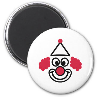 Clown face 2 inch round magnet