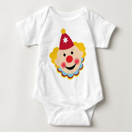 Clown Face Baby Bodysuit