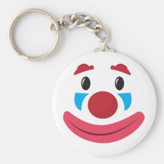 Clown Face Basic Round Button Keychain