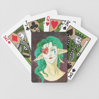 Clown Face Bicycle Playing Cards