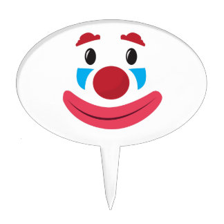 Clown Face Cake Toppers