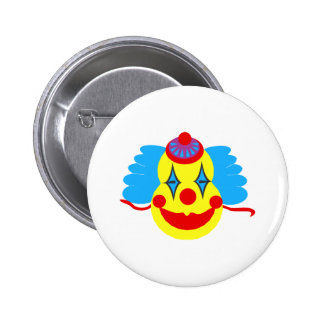 Clown Face Goofy Button