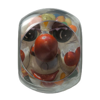 Clown Face Jelly Belly Candy Jar
