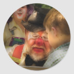 Clown - Face Painting Round Sticker