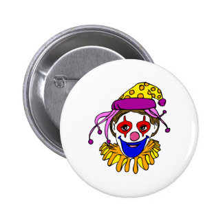 Clown Face Pinback Button