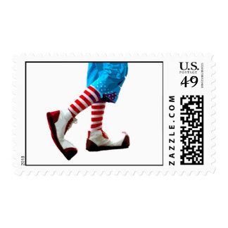 clown feet postage