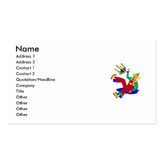 Clown fell off stool Double-Sided standard business cards (Pack of 100)