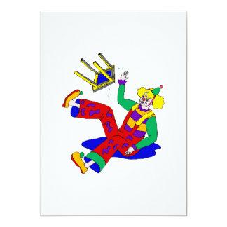 Clown fell off stool card