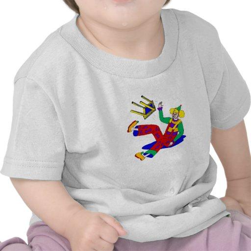 Clown fell off stool t-shirts