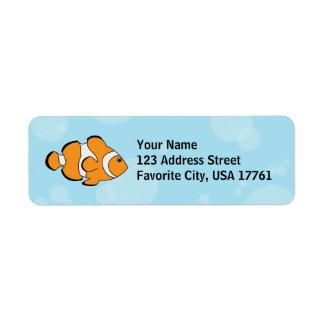 Clown Fish Address Label