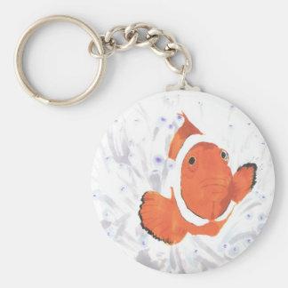 Clown Fish Basic Round Button Keychain