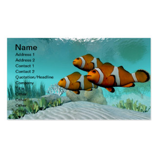Clown Fish Double-Sided Standard Business Cards (Pack Of 100)