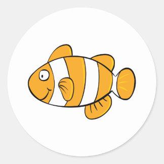 Clown Fish Classic Round Sticker