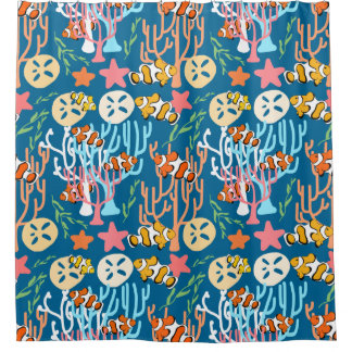 Clown Fish U0026 Coral Sea Life Custom Shower Curtain