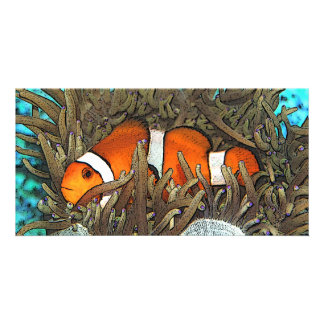 Clown Fish Design Custom Photo Card
