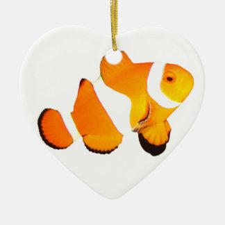 Clown Fish Heart Christmas Ornament