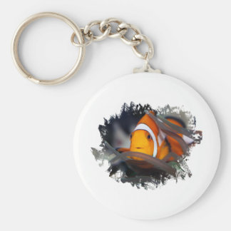 Clown-fish in anemone keychain