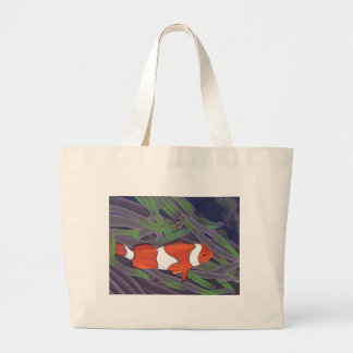 clown fish large tote bag