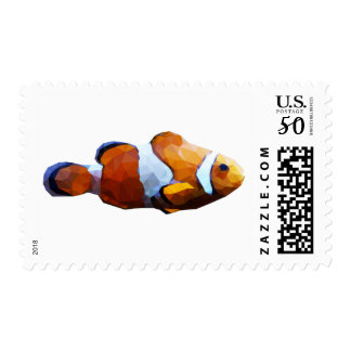 Clown Fish Low Poly Art Postage