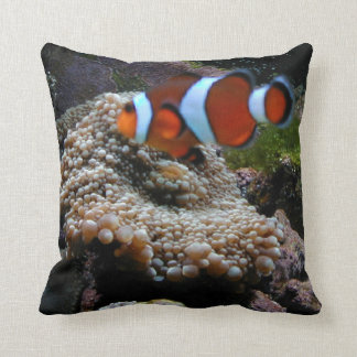 Clown Fish (Nemo) And Coral Pillow