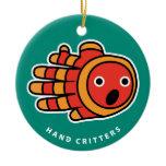 Hand shaped Clown Fish ornament