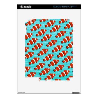 Clown fish pattern iPad 3 decal