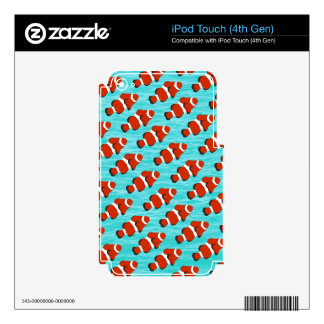 Clown fish pattern iPod touch 4G decal