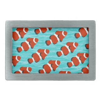 Clown fish pattern rectangular belt buckle