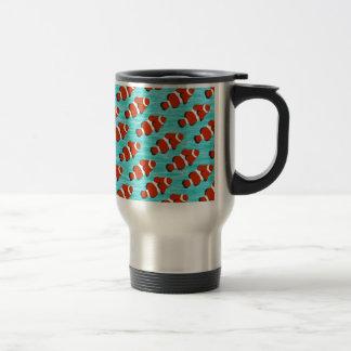 Clown fish pattern travel mug