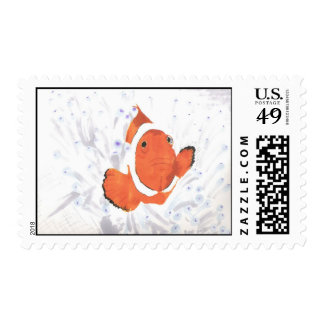 Clown Fish Postage Stamp