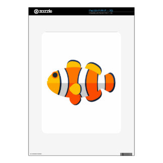 Clown Fish Primitive Style Decal For iPad