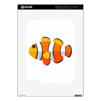 Clown Fish Primitive Style iPad 3 Decal